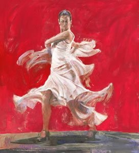 Rojo Y Blanco (Red and White)(canvas)