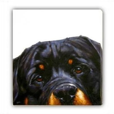 Rottie (Canvas) - Rottweiler small