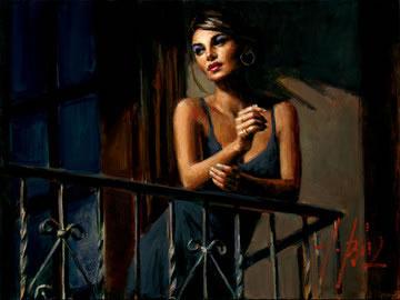 Saba At The Balcony VII by Fabian Perez