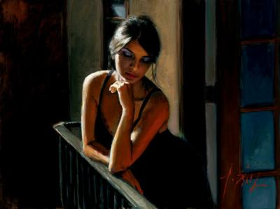 Saba At The Balcony VII by Fabian Perez