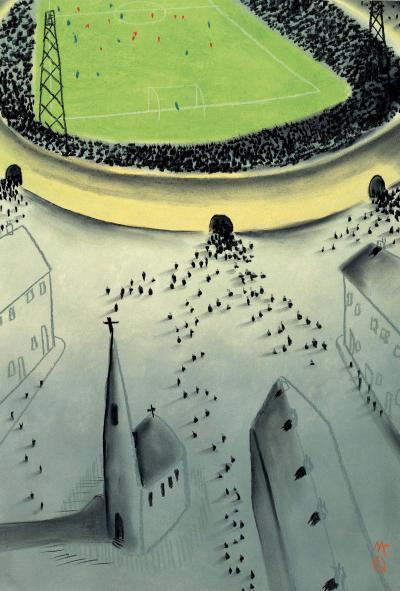 Saturday Afternoon (Football) by Mackenzie Thorpe