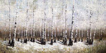 Snow Shadows - White Frame