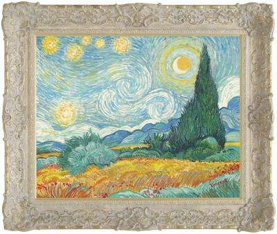 starry-night-with-wheat-field-and-cypress-trees-22361