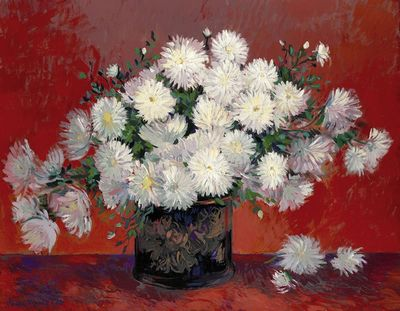 Still Life Flowers - Red