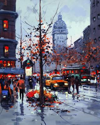 Street Scene Paris by Henderson Cisz