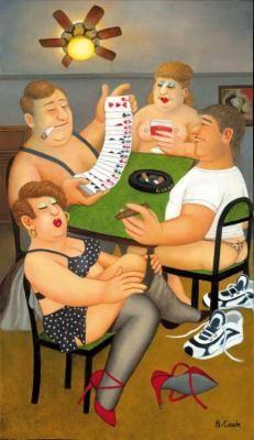 Strip Poker by Beryl Cook