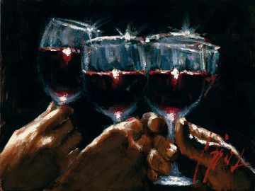 Study For A Better Life Red Wine by Fabian Perez