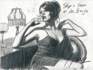Study For Saba At Las Brujas by Fabian Perez