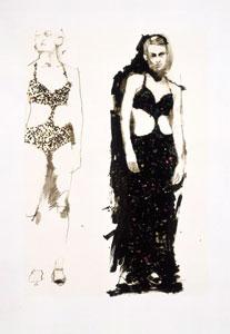 Study For The Glitter Girls by Robert Heindel