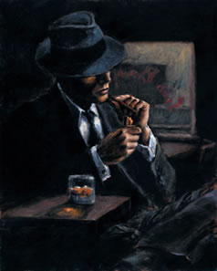 Study For Whisky At Las Brujas II (Board) by Fabian Perez