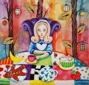 Study of Alice at the Mad Hatters Tea-Party small