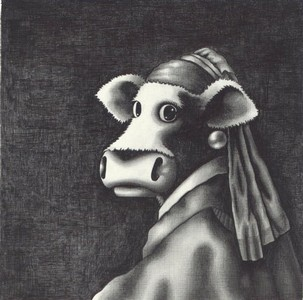 Study Of The Cow With The Pearl Earring