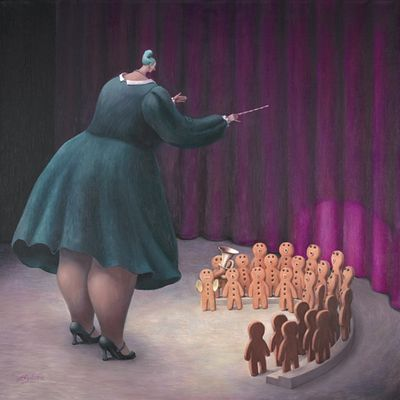 Sweet Music (Canvas) by Sarah Jane Szikora