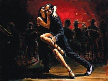 Tango In Red by Fabian Perez