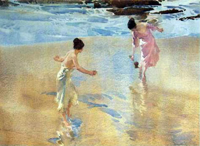The Beach Game by Russell Flint