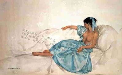 The Blue Ribbon by Russell Flint