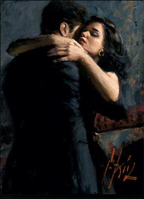 The Embrace III - LPEZ878 by Fabian Perez