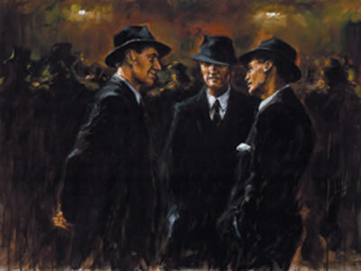 The Gathering At Las Brujas by Fabian Perez