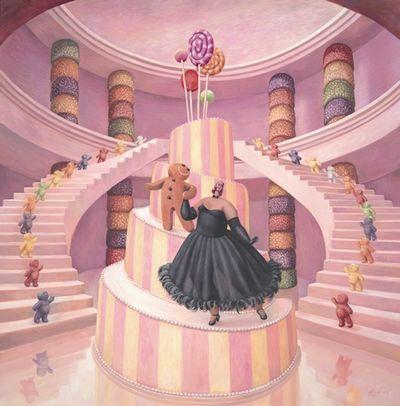 The Merry Widow (Canvas) by Sarah Jane Szikora