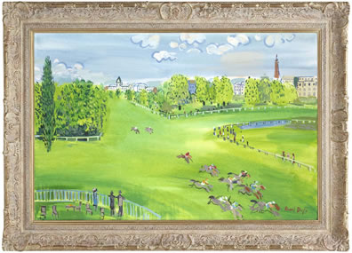 The Racecourse At Longchamps (Raoul Dufy) small