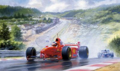 The Rain Master - Eddie Irvine by Tony Smith