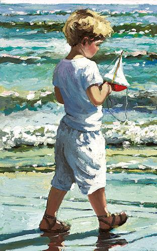The Red Toy Boat by Sherree Valentine Daines