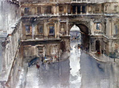 The Royal Academy Courtyard by Russell Flint