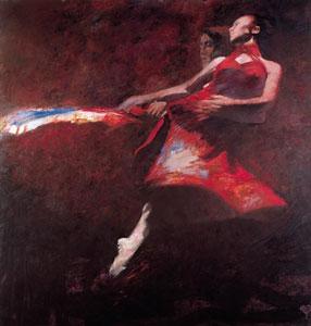 The Scarlett Dress by Robert Heindel