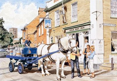 The Sole Bay Inn, Southwold - Sam, the Adnams Dray Horse by Steven Binks
