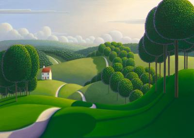 The Tree Lined Pathway by Paul Corfield