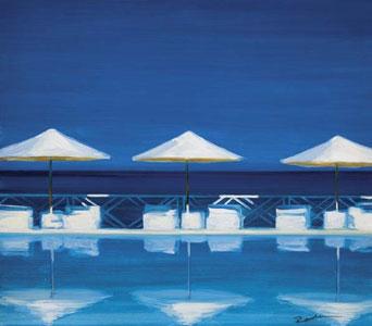 Three Parasols by Reuben Colley