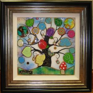 Tree of Harmony Small Square I by Kerry Darlington