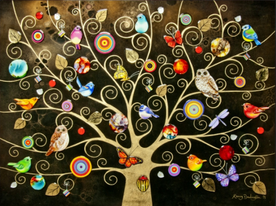 Tree of Life - Gold Extra Large by Kerry Darlington