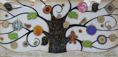 Tree Of Tranquility, Landscape (Cream Base) by Kerry Darlington