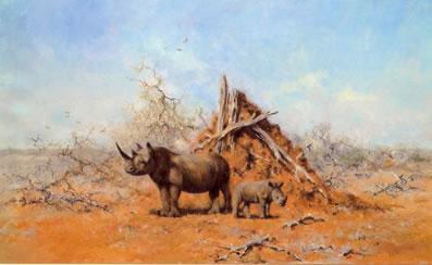 Tsavo Rhino by David Shepherd