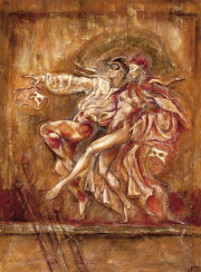 Two Dancers - On Canvas by Joy Kirton Smith