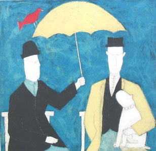 Under The Umbrella - Blue