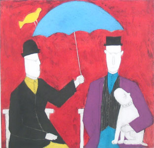 Under The Umbrella - Red