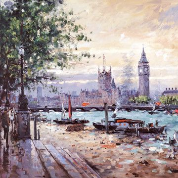 View Across The Thames by Henderson Cisz