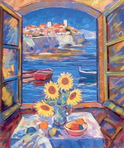 View Of Antibes (Sunflowers)