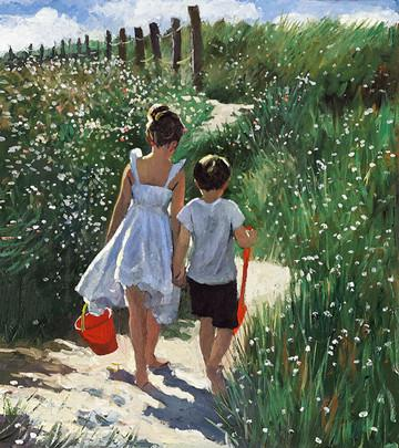 Walking to the Beach by Sherree Valentine Daines