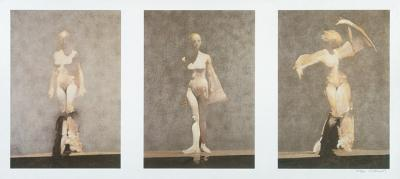 White Dancers Triptych by Robert Heindel