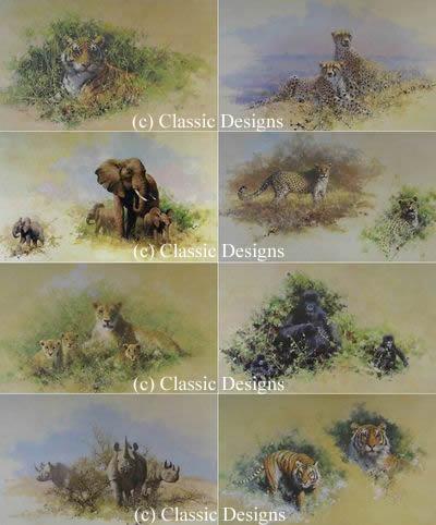 Wildlife Of The World Portfolio (Set of 8) by David Shepherd