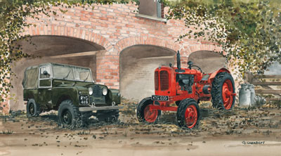 Working Together - Landrover & Tractor