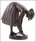 Ballet Slippers - Solid Bronze Sculpture by Kay Boyce