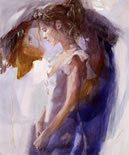 Beauty In Blue (canvas) by Christine Comyn