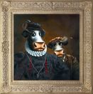 Black Udder And Bulldrick a limited edition print by Caroline Shotton