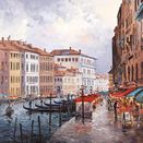 Cafe On The Grand Canal a limited edition print by Henderson Cisz