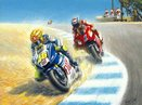 Coming Through (Valentino Rossi taking Casey Stoner) by Tony Smith