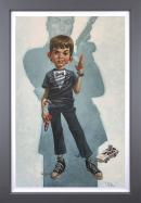 Dan with the Golden Gun- Deluxe Canvas by Craig Davison